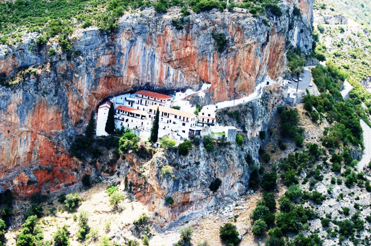 Monasteries In Leonidio Peloponnese Traditional